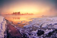 Fariy winter dawn stock images