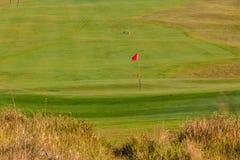 Farled för golfgräsplanflagga royaltyfria bilder