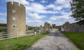Farleigh Hungerford城堡塔教堂和警卫室 库存图片
