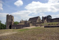 Farleigh Hungerford Castle. View from the inner court of Farleigh Hugerford Castle built by Lord Walter Hungerford around 1430. in Hungerford Somerset England Stock Photo