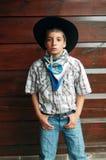 farlig cowboy Fotografering för Bildbyråer