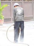 farlig jackhammering Royaltyfri Foto