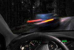 Farlig körning Fotografering för Bildbyråer