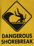 farlig shorebreak Fotografering för Bildbyråer