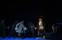 "Farlig ställe-Peking opera som ""Taking Tiger Montain By Strategyâ € Royaltyfri Fotografi"