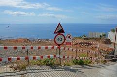 farlig väg arkivfoto