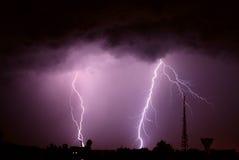 farliga blixtar Arkivbild