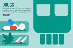 Farliga droger för informationsdiagram stock illustrationer
