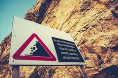 Farligt klippatecken Fotografering för Bildbyråer