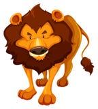 Farligt lejon royaltyfri illustrationer