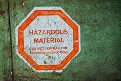 farligt material Arkivfoton