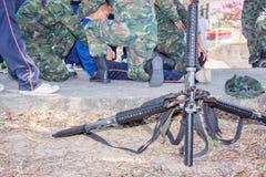 Farligt militärt vapen för vapen M-16 Arkivbilder
