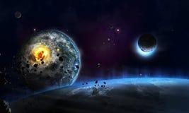 Farligt universum Arkivbild