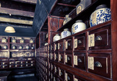 Farmácia chinesa Fotografia de Stock