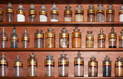 Farmácia velha Fotos de Stock Royalty Free