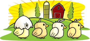 farmę kurczaków royalty ilustracja