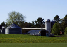 The Farm. A farm with a barn and silo Royalty Free Stock Images