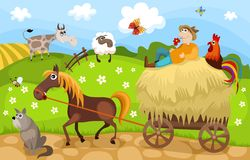 Farm royalty free illustration