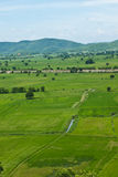Farm. Beautiful farm near the high mountains Royalty Free Stock Images