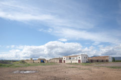 Farm. With large blue sky in Spain Stock Photography