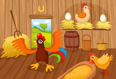 Farm. Vector illustration of a cute farm Royalty Free Stock Images