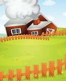 Farm. Illustration of a farm scene Stock Photos