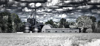 Farm. An abstract version of a farm Royalty Free Stock Image