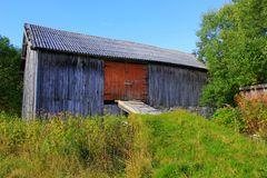 Farm. An old farm building in Norway Royalty Free Stock Images
