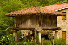 Farm. Typical house,Asturias,Spain stock images