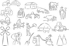 Farm. 20 themed EPS images related to farm. The number of vector nodes is absolute minimum. The images are very easy to use and edit and are extremely smooth vector illustration