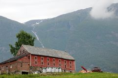 Farm above Hardangerfjord Royalty Free Stock Photography