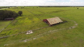 Farm aerial video Stock Photos