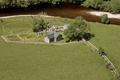 Farm aerial view. Royalty Free Stock Image