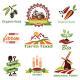 Farm, agriculture icons, labels collection Stock Photography