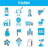 Farm and agriculture icons Royalty Free Stock Photos