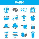 Farm and agriculture icons Stock Photography
