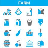 Farm and agriculture icons Royalty Free Stock Photography