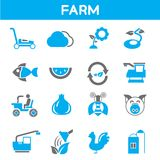 Farm and agriculture icons Stock Photo