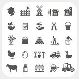 Farm and agriculture icons set Stock Images