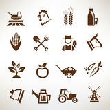 Farm and agriculture vector icons Stock Photography