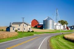 Farm along a Country Road Stock Photo