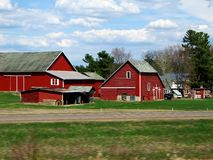 Farm along a road. This is a farm near a road in Wisconsin in the country with a barn ,chicken house storage shed ,and a house Stock Photography