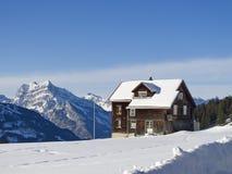 Farm in alps Stock Photos