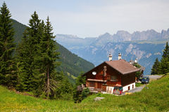 Farm in alps Stock Image