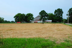 Farm in America. This is an american farm. The field is of freshly cut wheat and is empty Stock Images
