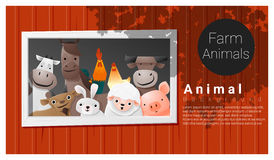 Farm animal background Stock Photo