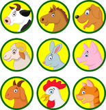 Farm animal cartoon collection Stock Photos