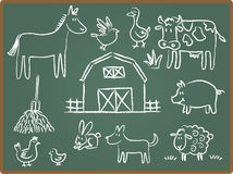 Farm Animal on ChalkBoard