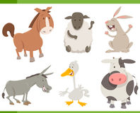 Farm animal characters collection Stock Images