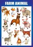 farm animal chart Royalty Free Stock Photo